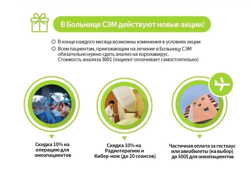 Скидки на операции, радиотерапию и проживание для онкопациентов клиники G SAM
