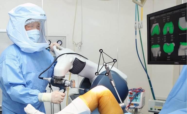 Роботизированная замена коленного сустава в Корее